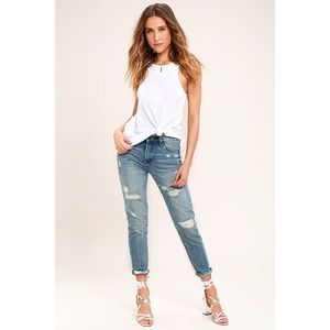 Blank NYC Pin Up High Rise Distressed Skinny Jeans